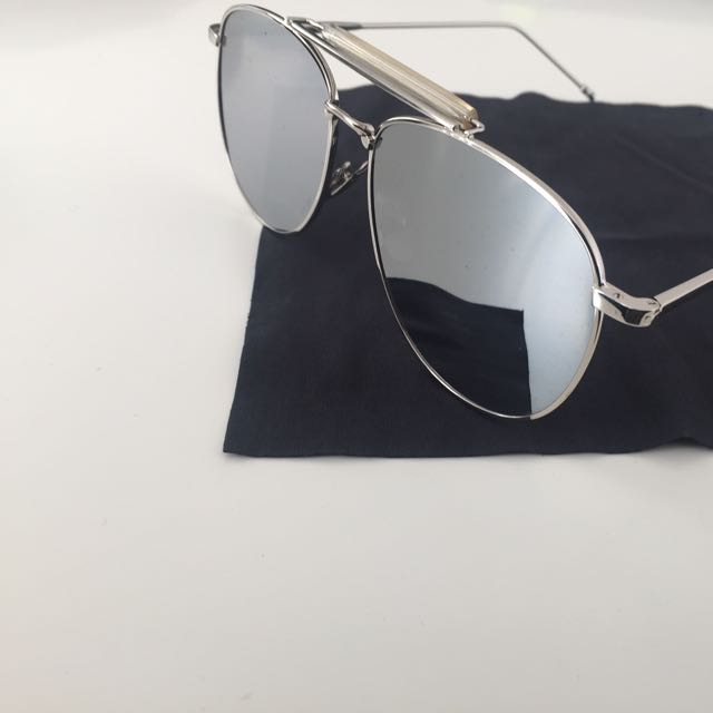 Flat Mirror Aviator Sunglasses (similar Design to Thom Browne)