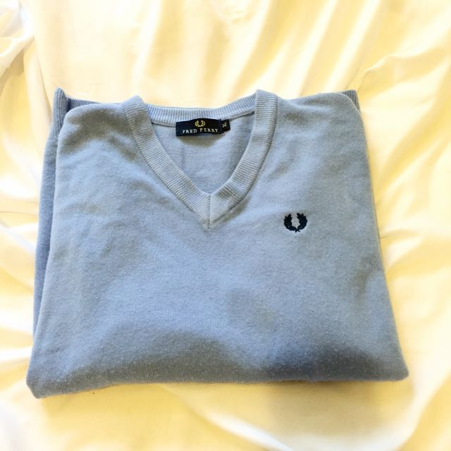 Fred Perry Sky Blue Sweater