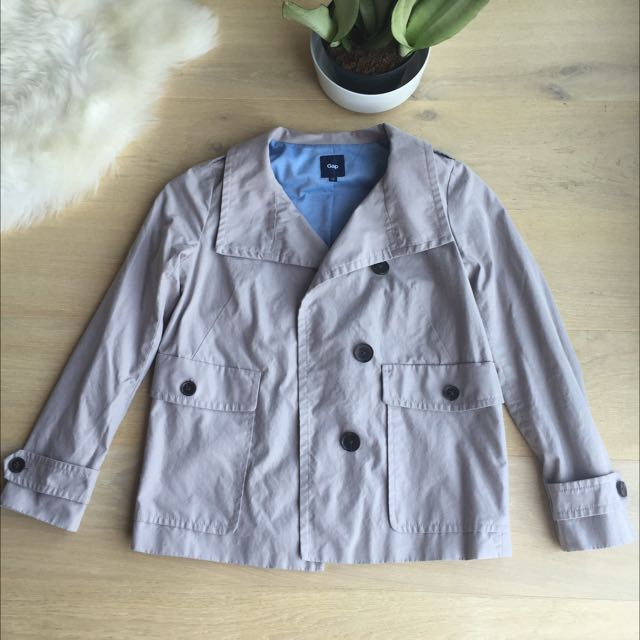 Hip Length Trench Jacket