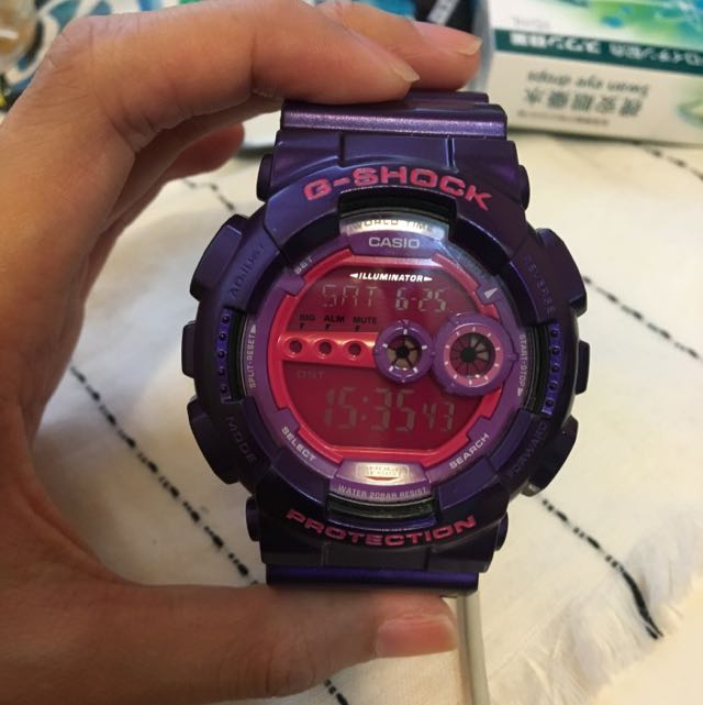 G-SHOCK 手錶 紫色