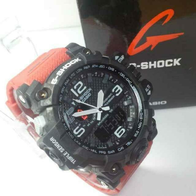 G-SHOCK GWG 1000 RED BLACK ANGKA WHITE