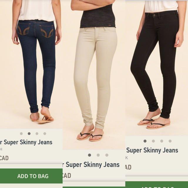 Hollister Super Skinny Heans