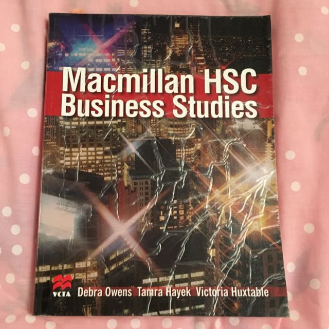 HSC Business Studies Macmillan Textbook