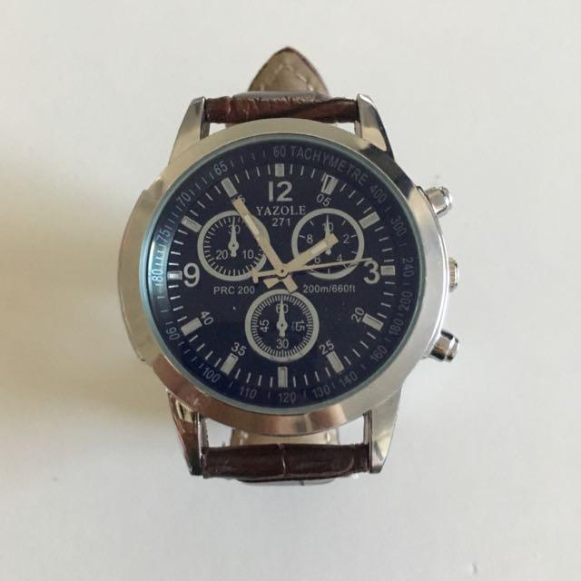 Luxury Faux Leather Men's Watch