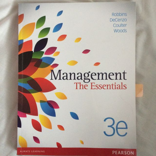 Management The Essentials 3e Textbook
