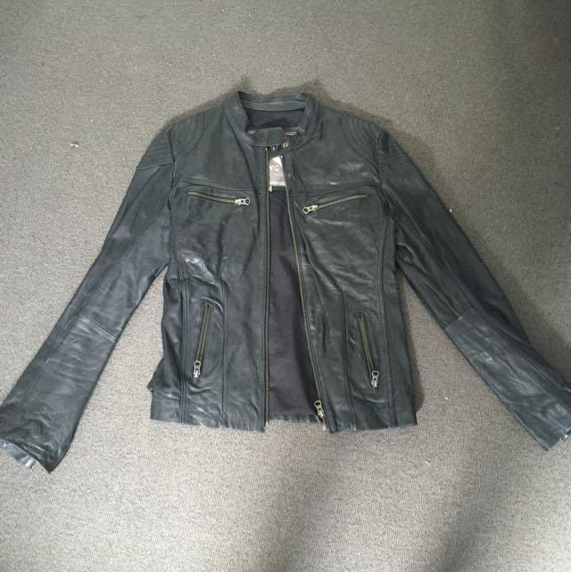 Mister Zimi Genuine Leather Biker Jacket