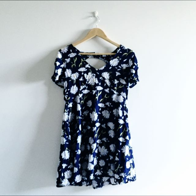 Open Back v Neck Dress