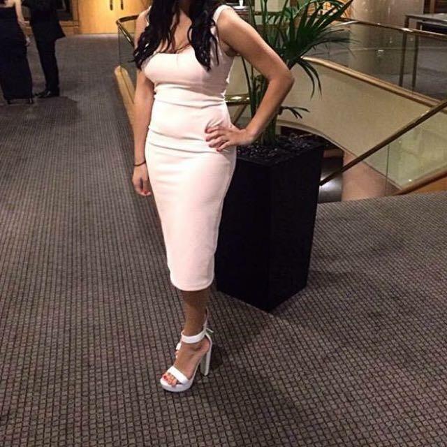 Pink Bardot Dress