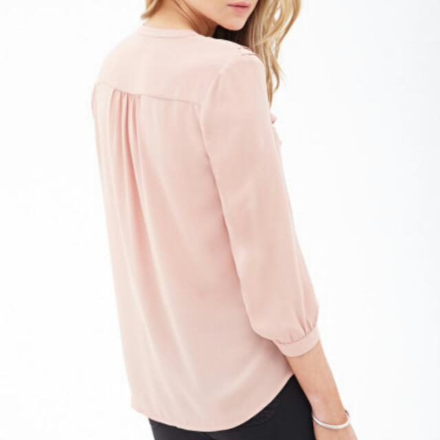 Pink Sheer Chiffon Top from Forever 21