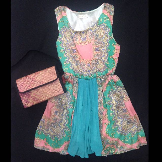 🌟Satin Scarf Design Dress