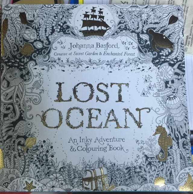 SECRET GARDEN LOST OCEAN COLOURING BOOK Books Stationery On Carousell