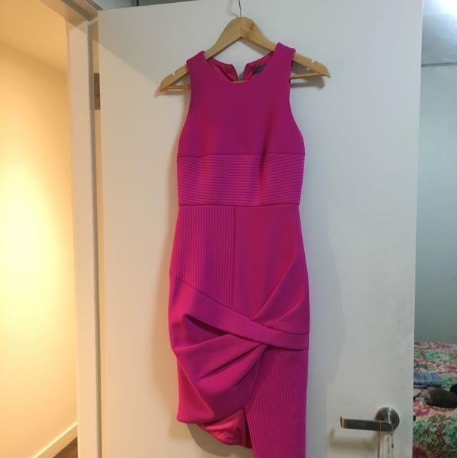 Sheike Hot Pink Work Dress Sz 8
