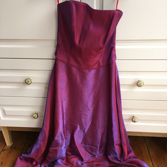 Shot Silk Formal dress & Wrap