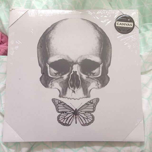 Skull And Butterflies Canvas