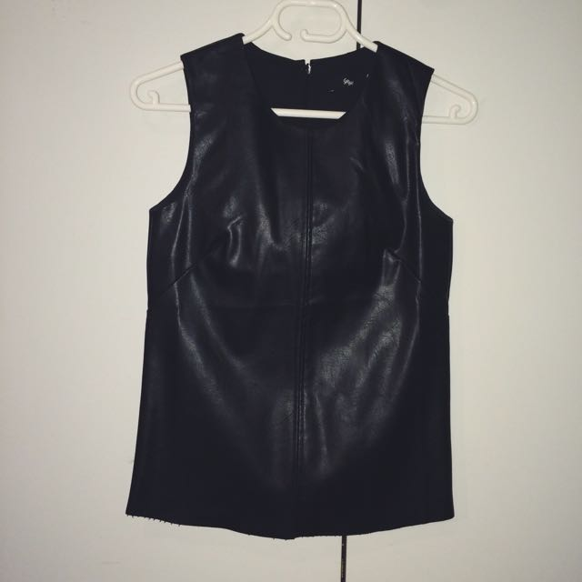 Sportsgirl PU Leather Top
