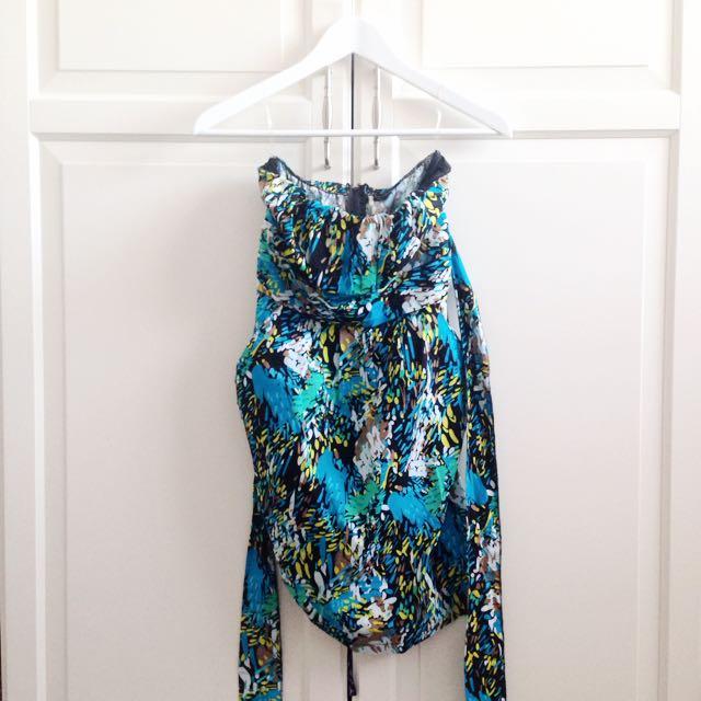 Strapless Patterned Dress