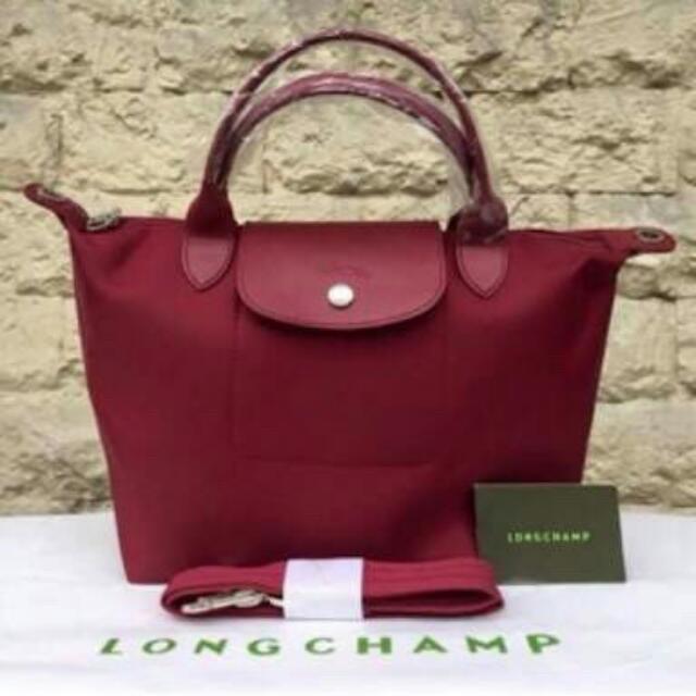 Tas Longchamp Neo Super   Ori Pabrik Size S Maroon  Opera BEST SELLER 0161ce4805