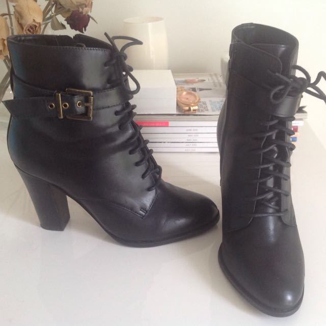 Tony Bianco Leather Boots Size:6 1/2