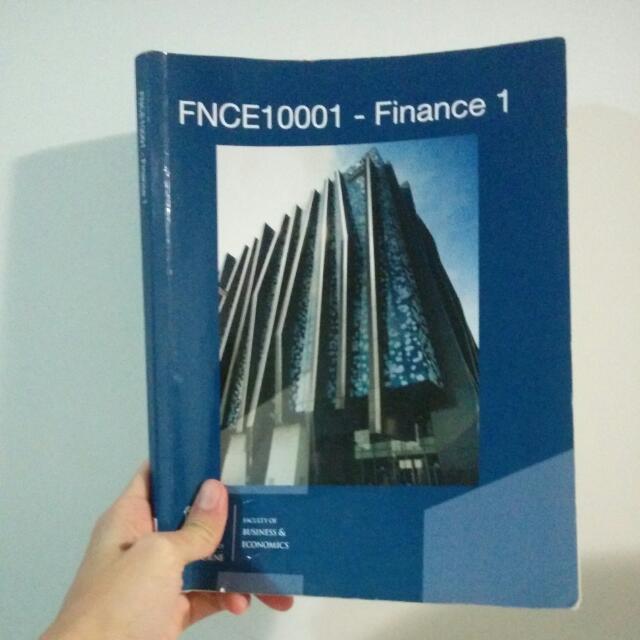 University Of Melbourne - Finance 1
