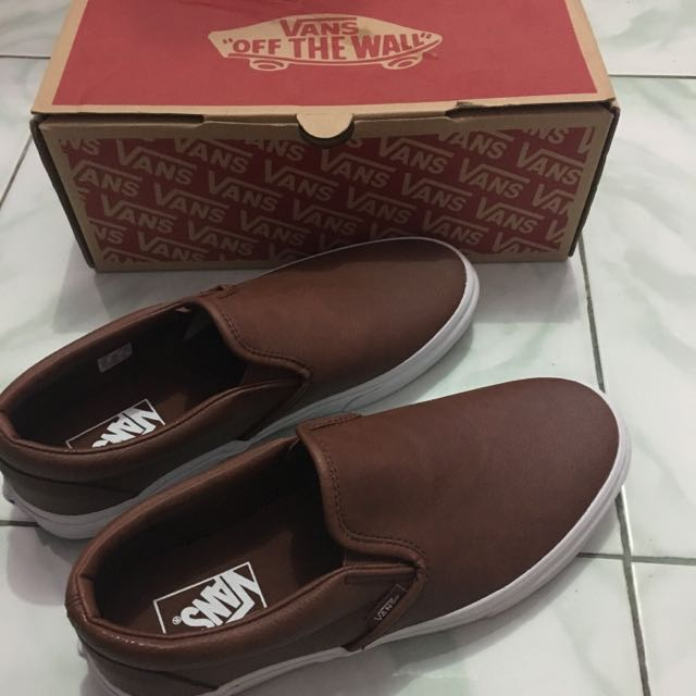 Vans Authentic Classic Slip On Leather Brown