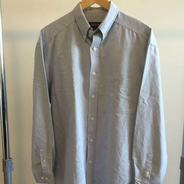 VINTAGE COUNTRY ROAD CHAMBRAY BUTTON UP SHIRT