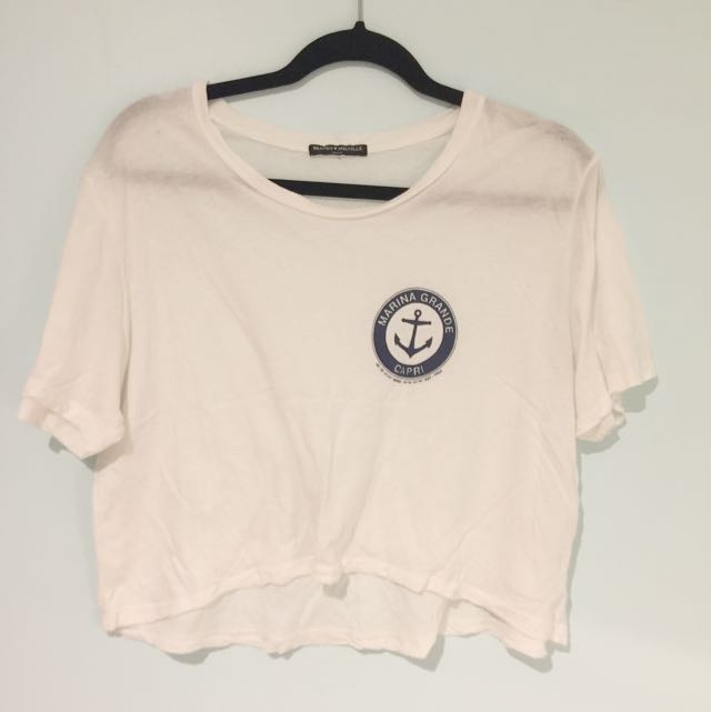 white brandy melville shirt