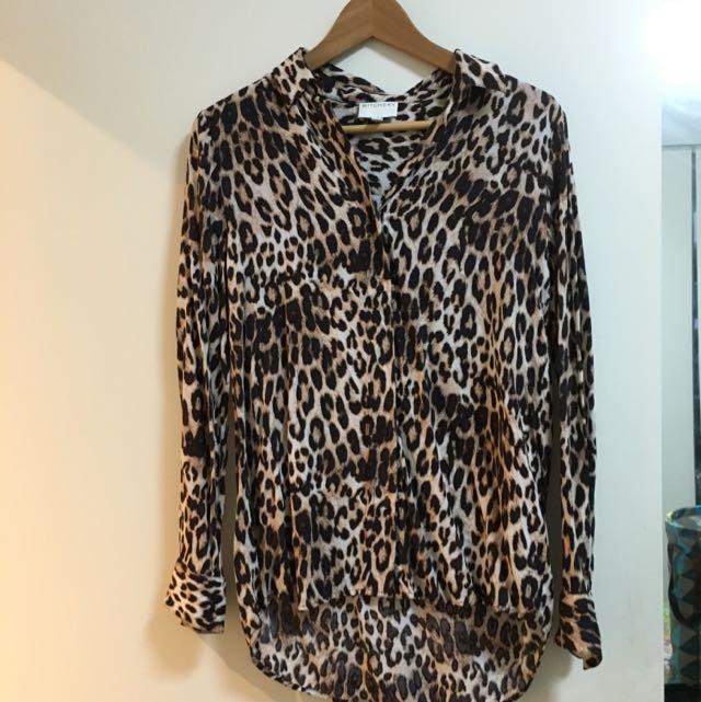 Witchery Leopard Shirt Sz 8