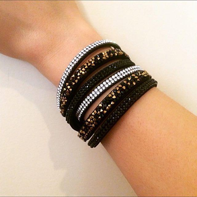 Wrap Shining Bracelet In Black