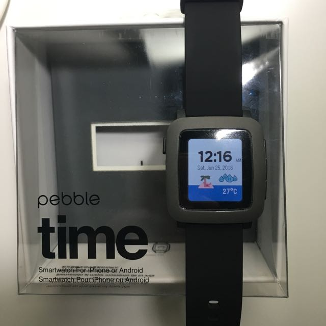 (Reserved) Used For 1 Day Pebble Time Black