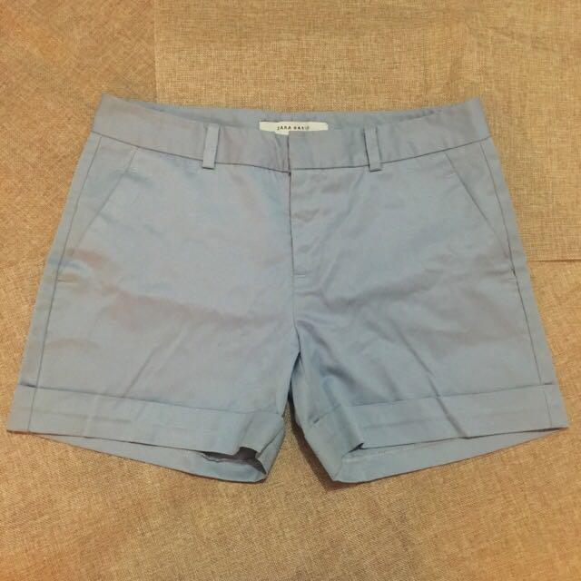 Zara Light Blue Short