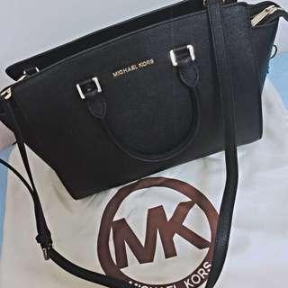 Michael Kors 經典 黑 大款 可放A4 可換 / Mk MJ