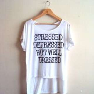 loose fitted t-shirt.