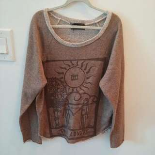 Brandy Melville Brown Sweatshirt