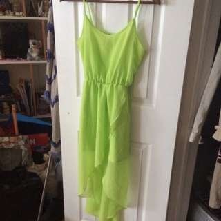 Bright Green High-low Dress