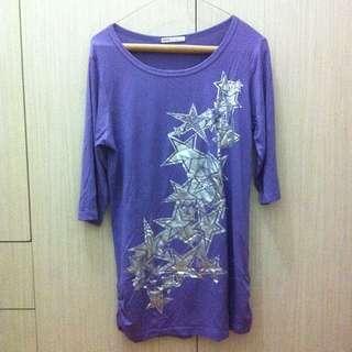 DRDK Purple Silver Star Longsleeve