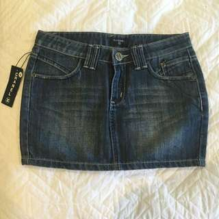 Chanel Denim Skirt Fits Size 6-8