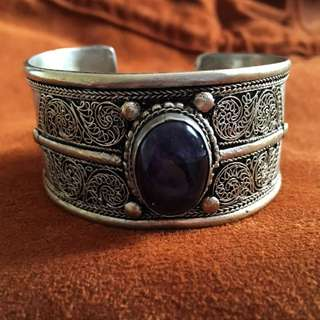 Stone Detailed Bohemian Festival Cuff Bracelet