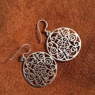 Bohemian Sterling Silver Earrings