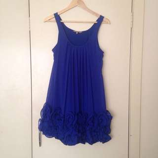 VANGELICA Blue Formal Dress (small)