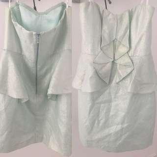 Mint Green Forever New Peplum Dress