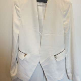 Zara Blazer Cream With Gold Zips