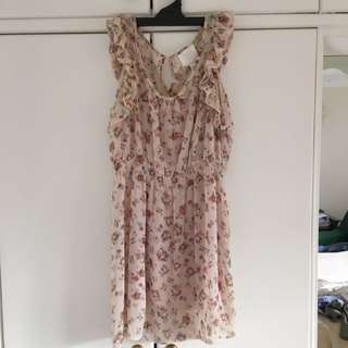 French Kitty Pink Summer Dress