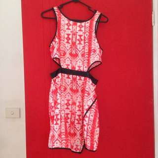 Cut Out Dress With Split