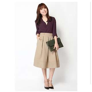A For Arcade MEESTER MIDI SKIRT IN SAND