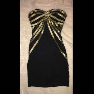 Strapless Bodycon Clubbing Dress