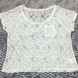 Jays Jays Cropped Lace Top