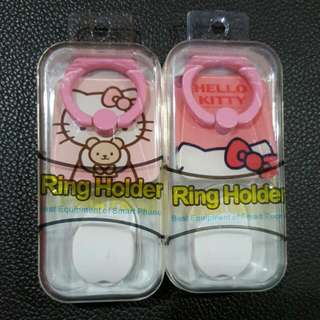 Hello Kitty Mobile Phone iRing With Holder - New In Box