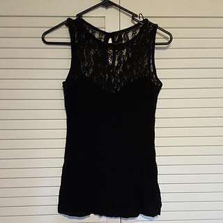Fitted Top With Lace