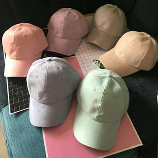 Po    PO    2016 Korean candy-colored suede curved eaves. Po    PO    2016  Korean candy-colored suede curved eaves baseball cap hip-hop hat ... fbf866c93057