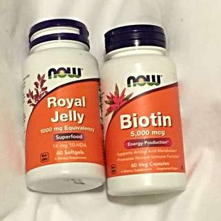 Now Foods Royal Jelly And Biotin